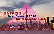 Ontario First Draw of 2020 Invited 242 Candidates