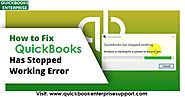 Fix QuickBooks has Stopped Working or QuickBooks is not Responding