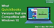 What Versions of QuickBooks are Supported on MS Windows 10?