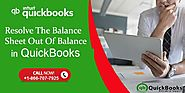 How to Resolve the Issue of Balance sheet Out of Balance in QuickBooks?