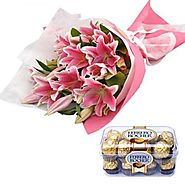 Buy/Send Flowers n chocolate Through Yuvaflowers