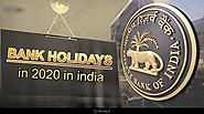 Bank holidays in 2020 in india | Full list of bank holidays in 2020