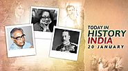 Today in history india 20 january | On This Day | birthday, events, death