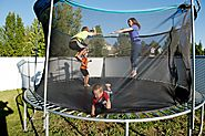 Bounce Smartly With Heavy Duty Trampoline : Keep Your Toddler's Jump With Safety