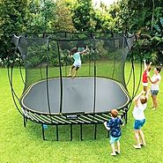 10 Foot Galactic Xtreme Outdoor Trampoline with Enclosure Safety For Sale