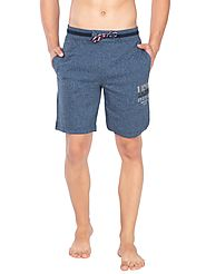 Jockey Navy Grindle Straight Fit Shorts