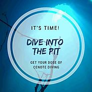 "Diving in The Pit Cenote - Have you seen the ""Dancing Light?"""