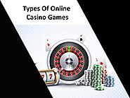 Types Of Online Casino Games PDF