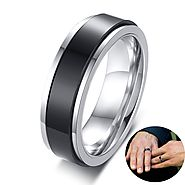 Stainless Steel Gay Promise Rings.