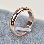 Rose Gold Titanium Rings for Men