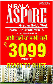 Nirala Aspire - Are you searching affordable flat in Noida Extension - Nirala Aspire