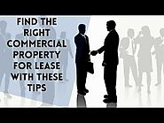 Find the Right Commercial Property for Lease With These Tips