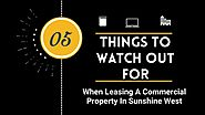 Things To Look For In A Commercial Lease In Sunshine West