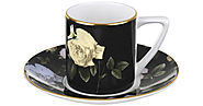 Ted Baker - Rosie Lee Espresso Cup and Saucer - Black
