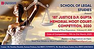 Memorial Moot Court Competition 2020 at BBDU