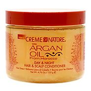 Shop creme of nature argan oil day & night hair & scalp conditioner