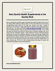 Best quality health supplements at the quality herb