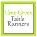 Best Lime Green Table Runner 2014