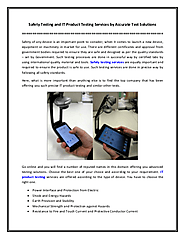 Safety Testing and IT Product Testing Services by Accurate Test Solutions