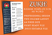Zukie resume template for Microsoft word free download - MS Word Resume Templates