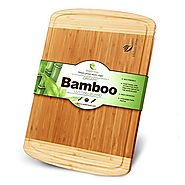 Small Bamboo Wood Cutting Board With Juice Grooves Best For Chopping Bread, Meat, and Cheese. Small (12 X 9) You Will...