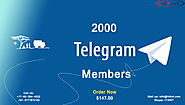 Buy 2000 Telegram Members
