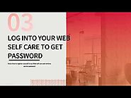 Recover service password from our web self-care-SIPTEL