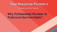 Why Professional Plumber In Richmond Are Inevitable?