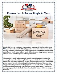 Reasons that Influence People to Move