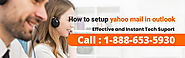 How to Setup Yahoo Mail In Outlook 1-888-653-5930 Help