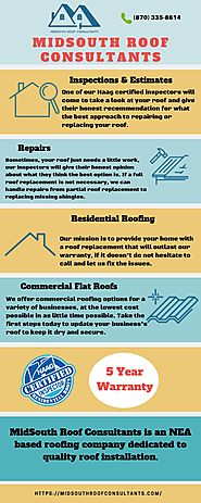 Roofing Companies and Contractors At Jonesboro AR - Midsouth Roof Consultants