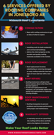 Services Offered by Roofing Companies and Contractors In Jonesboro AR