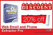 Hurry! Get 20% discount on Web Email and Phone Extractor Pro