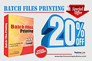 Get 20% discount on Batch Files Printing