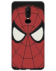 Spiderman Face Oneplus 6 Cover at Beyoung