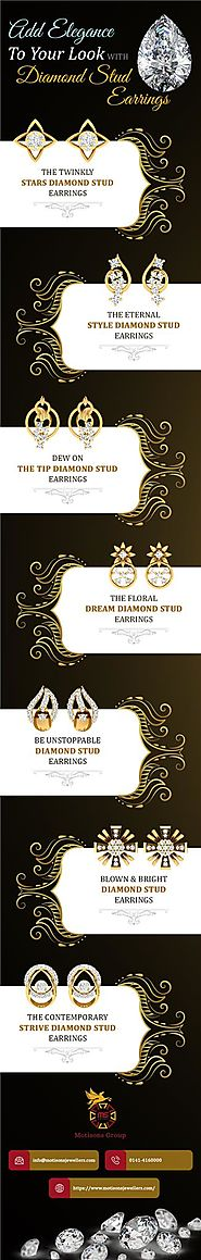 Add Elegance To Your Look With Diamond Stud Earrings