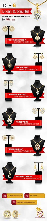 Top 6 Elegant and Beautiful Diamond Pendant Set