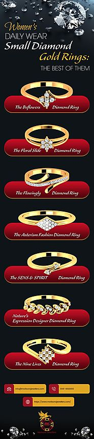 Women Daily Wear Diamond Gold Ring