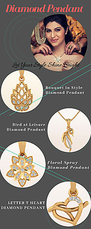 Diamond Pendant Design for Pretty women