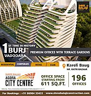 First Office Space in Vadodara with Attached Garden and Conference Hall at the height of 70 feet.