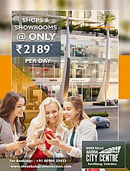 SHOWROOMS WITH 15 FEET CLEAR CEILING HEIGHT ENSURING GRANDER PRESENCE