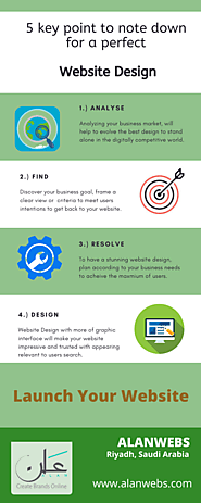 5 Key Point to note down for a perfect Website Design - Alanwebs