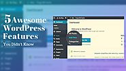 5 Awesome WordPress Features You Didn't Know