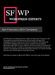 SEO Company San Francisco - by aaron russ [Infographic]