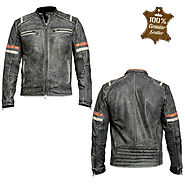 Details about  Oxports Men's Motorcycle Leather Jacket – Motorbike Vintage Retro Style Jacket