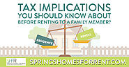 Renting a Home to Friends or Family, Tax Implications