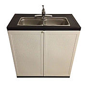 2 Compartment Portable Sink | Portable Sink Depot