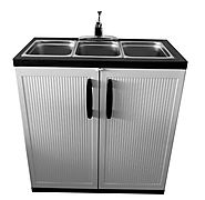 3 Compartment Portable Sink | Portable Sink Depot