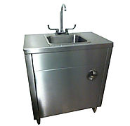 Stainless Steel Handwash Sink with Hot & Cold Water | Portable Sink Depot