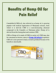 Benefits of Hemp Oil for Pain Relief